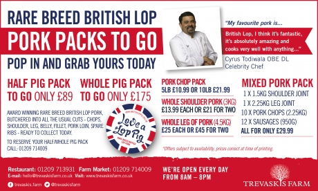 Rare breed British Lop pork packs ready to go!
